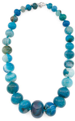 Sterling Silver Blue Agate Gumball Necklace