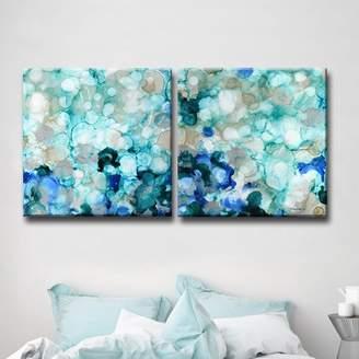 Mercer41 'Mermaid Pearls I/II' 2 Piece Painting Print on Wrapped Canvas Set