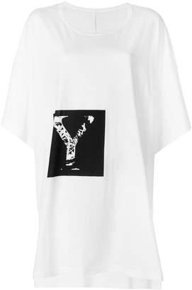 Yohji Yamamoto oversized Y print T-shirt