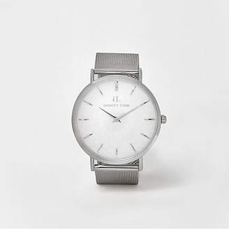 River Island Silver plated Abbott Lyon mesh strap watch