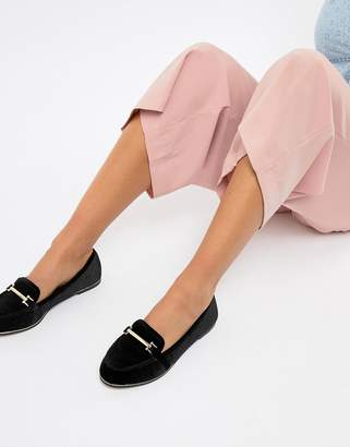 Asos DESIGN Maderia flat shoes