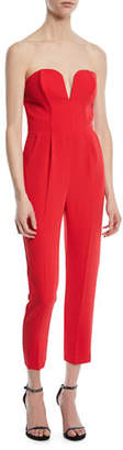 Amanda Uprichard Cherri Strapless Cropped Jumpsuit