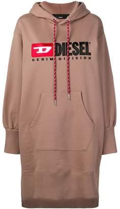 Diesel hooded logo dress