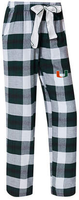 Concepts Sport Women's Miami Hurricanes Homestretch Flannel Pajama Pants