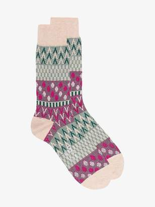 Ayame Pouring Rain patterned ankle socks