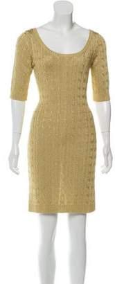 Ralph Lauren Metallic Sweater Dress