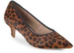 Saks Fifth Avenue Leather Kitten Heel Pumps