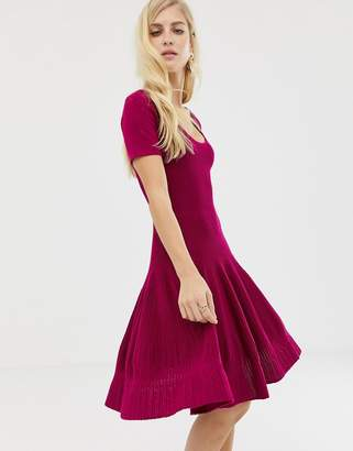 Asos Design DESIGN structured dress with seam detail