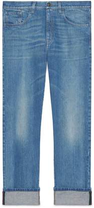 Gucci Denim pant with Web