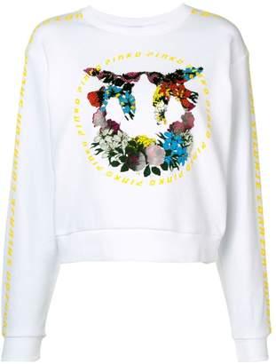 Pinko graphic print cropped sweatshirt