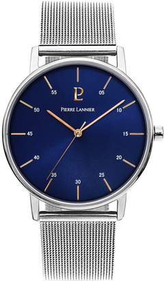 Pierre Lannier Men's Watch 202J168 - ELEGANCE STYLE - Silver and - Stainless Steel - Milanese Band