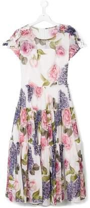 MonnaLisa Chic Tuscan garden georgette dress