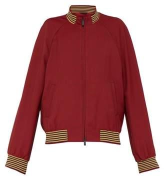 Fendi Houndstooth Bomber Jacket - Mens - Red