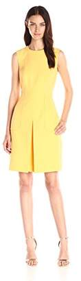 Donna Morgan Women's Sleeveless Crepe Box Pleat Fit and Flare Dress $63.11 thestylecure.com