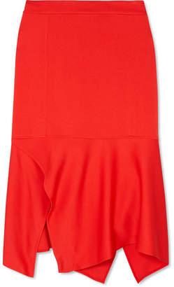 Victoria Beckham Asymmetric Crepe Midi Skirt - Red
