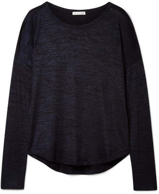 Rag & Bone Hudson Mélange Stretch-jersey Top - Midnight blue