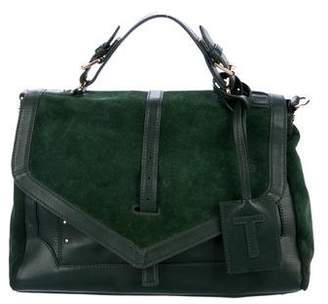 Tory Burch 797 Leather & Suede Satchel