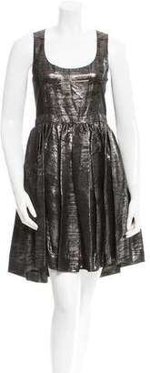 Adam Sleeveless Metallic Dress