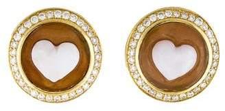 Ippolita 18K Diamond & Shell Heart Cameo Stud Earrings