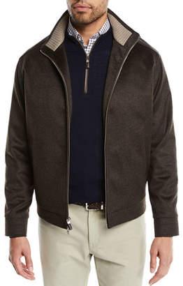 Peter Millar Men's Westport Crown Fleece Zip-Front Jacket