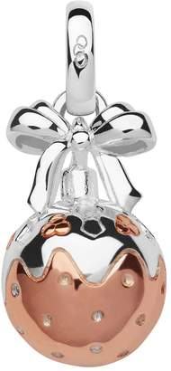 Links of London Sterling Silver & Rose Gold Vermeil Christmas Pudding Bauble Mini Charm