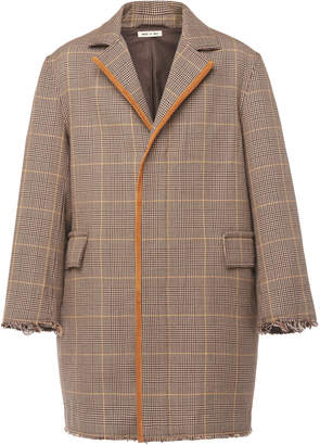 Marni Distressed Checked Wool Coat