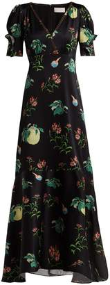 Peter Pilotto Fruit-print silk midi dress