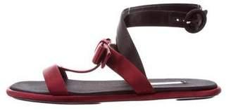 Prada Satin Bow Embellished Sandals