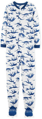 Carter's Little & Big Boy 1-Pc. Dino Skeleton Fleece Pajamas
