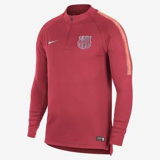 Nike FC Barcelona Dri-FIT Squad Drill Men's Long Sleeve Soccer Top