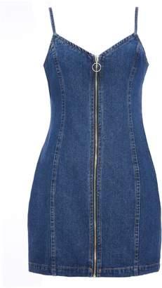 96359d09a7 Next Womens Quiz Denim Zip Front Pinafore Dress