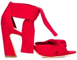 Loeffler Randall block heel ankle strap sandals