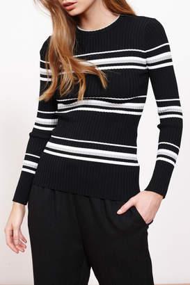 MinkPink Stripe Ribbed Sweater Top