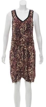 Etoile Isabel Marant Silk Leopard Print Dress