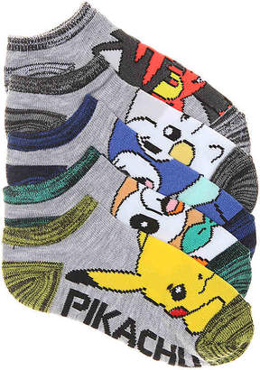 Pokemon High Point Design Toddler & Youth No Show Socks - 5 Pack - Boy's