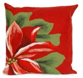Liora Manné Visions II Poinsettia Indoor and Outdoor Square Pillow