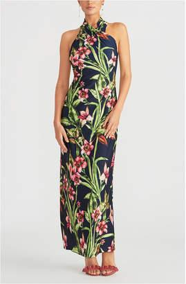 Rachel Roy Floral-Print Halter Maxi Dress