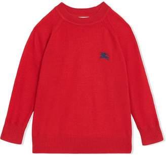 Burberry TEEN Crew Neck Cashmere Sweater