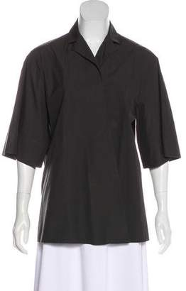 Bottega Veneta Short Sleeve Open Front Cardigan