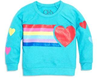 Chaser Girls' Hearts & Rainbows Sweatshirt - Big Kid