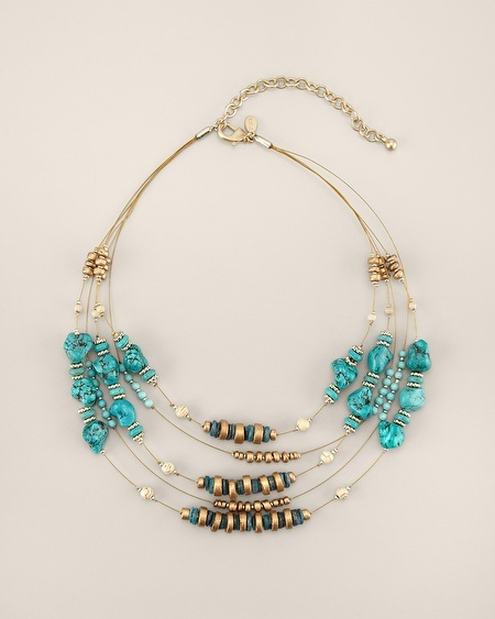 Chico's Flora Illusion Necklace