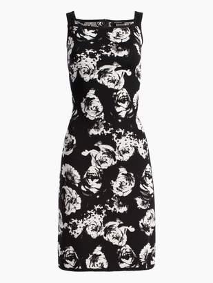 St. John Blister Floral Knit Dress