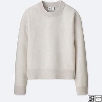 Uniqlo Women's U Premium Lambswool Mock Neck Sweater