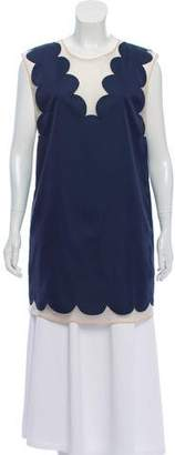 3.1 Phillip Lim Sleeveless Scalloped Tunic