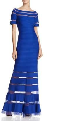 Tadashi Shoji Off-the-Shoulder Pintuck Gown