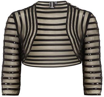 Dorothy Perkins Black mesh and sequins bolero