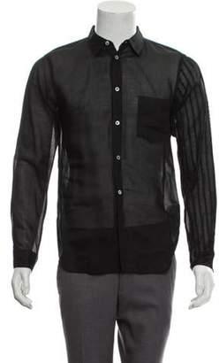 Comme des Garçons Homme Plus Sheer Button-Up Shirt black Comme des Garçons Homme Plus Sheer Button-Up Shirt