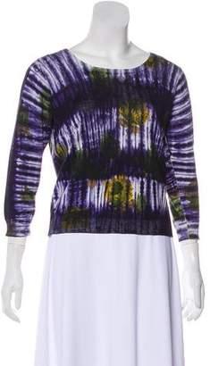 Prada Knit Tie-Dye Sweater