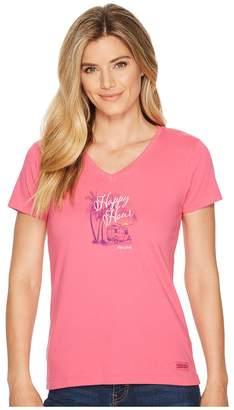 Life is Good Happy Hour Airstream Crusher Vee Women's T Shirt
