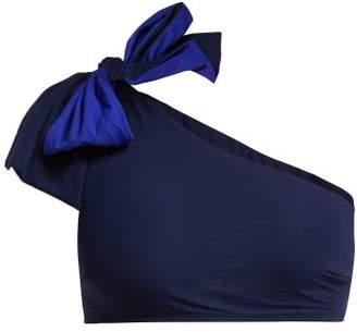 Araks Phoebe Bow Bikini Top - Womens - Blue Multi